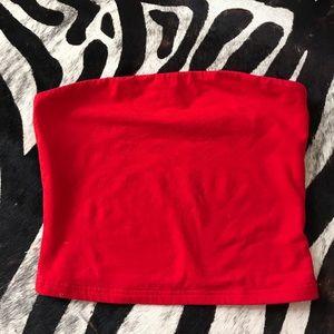 Aritzia Red Tube Top